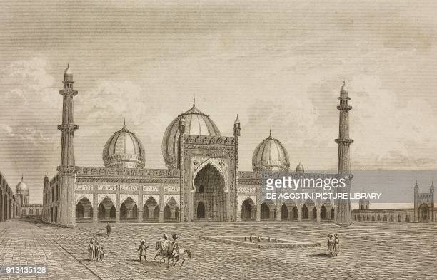 Jama Masjid Delhi India engraving by Lemaitre from Inde by Dubois De Jancigny and Xavier Raymond L'Univers pittoresque published by Firmin Didot...