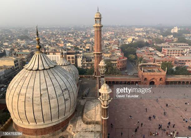 jama masjid in delhi - 金曜モスク ストックフォトと画像