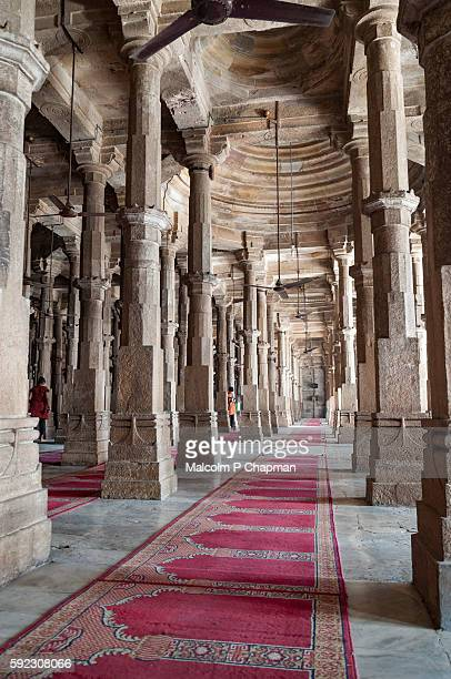 jama masjid, mosque, ahmedabad, gujarat, india - friday mosque stock pictures, royalty-free photos & images