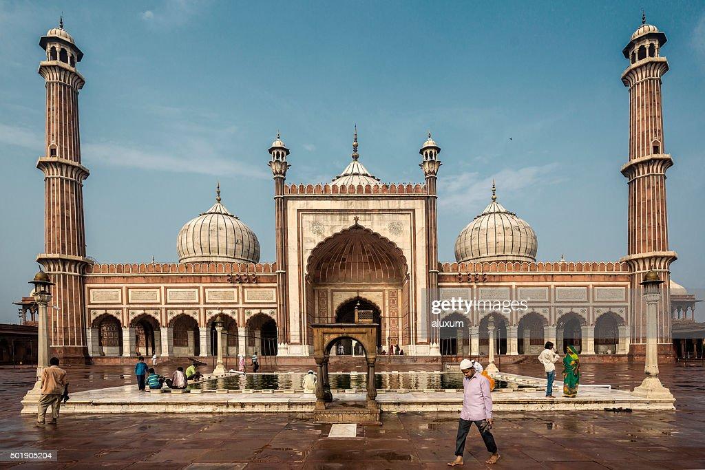 Jama Masjid mosque Delhi India : Stock Photo