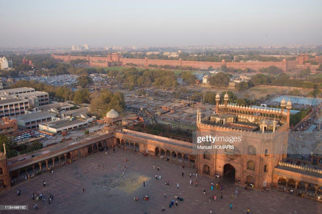 Jama Masjid Mosque, Delhi : Stock Photo