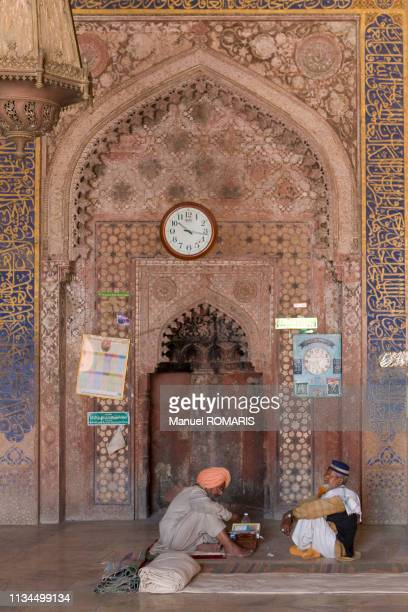 jama masjid mosque, fatehpur sikri - agra jama masjid mosque imagens e fotografias de stock