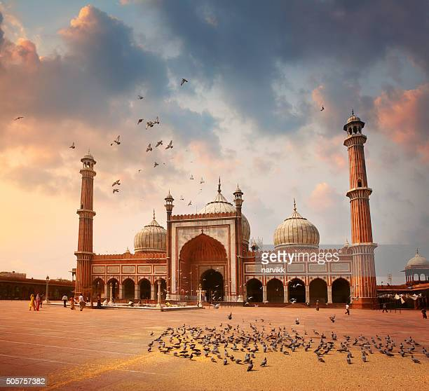 jama masjid mosque in delhi - jama masjid delhi stock pictures, royalty-free photos & images