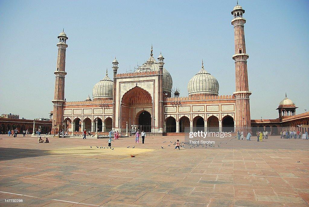 Jama Masjid mosque in New Delhi : Stock Photo