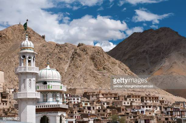 Jama Masjid mosque in the center of Leh town, Jammu and Kashmir, India