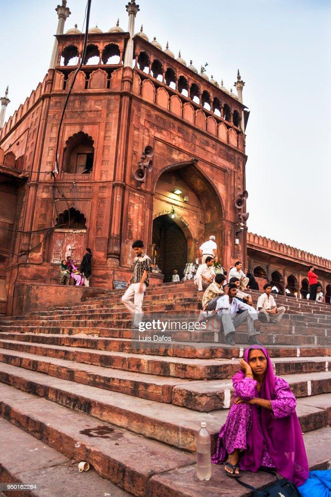 Jama Masjid mosque of Delhi : Stock Photo