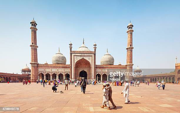 jama masjid mosque old delhi, india - jama masjid delhi stock pictures, royalty-free photos & images