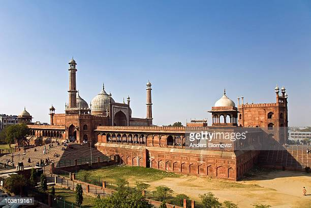 jama masjid mosque. - friday mosque stock pictures, royalty-free photos & images