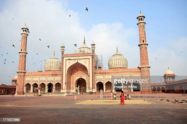 jama masjid, new delhi - jama masjid delhi stock pictures, royalty-free photos & images