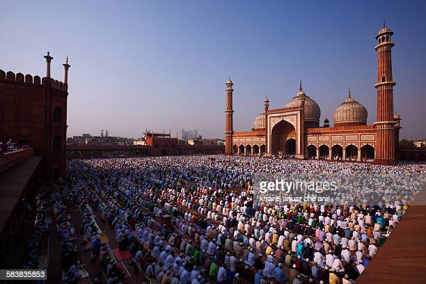 jama masjid - eid al adha stock pictures, royalty-free photos & images
