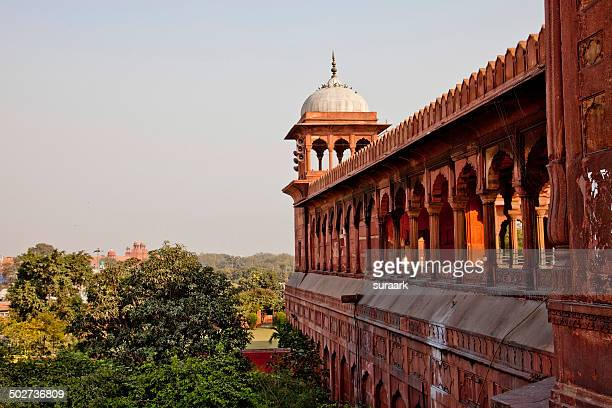 Jama Masjid with Red Fort in the distant