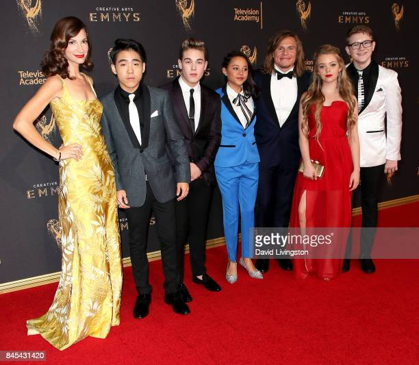 Jama Williamson Lance Lim Ricardo Hurtado Breanna Yde Tony Cavalero Jade Pettyjohn and Aidan Miner attend the 2017 Creative Arts Emmy Awards at...