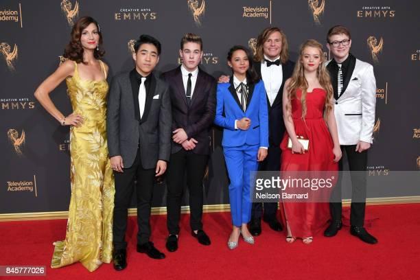 Jama Williamson Lance Lim Ricardo Hurtado Breanna Yde Tony Cavalero Jade Pettyjohn and Aidan Miner attend day 2 of the 2017 Creative Arts Emmy Awards...