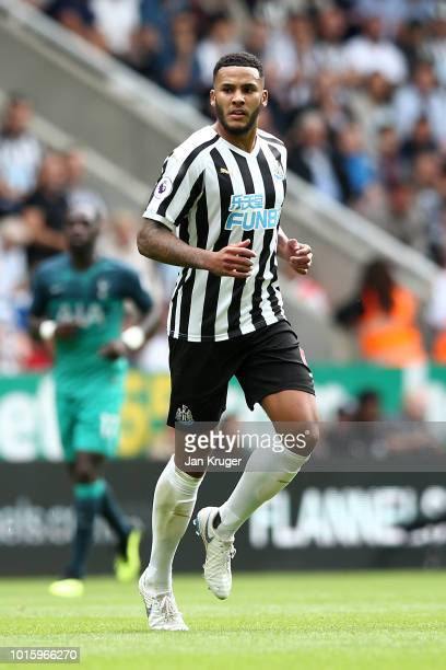 Jamaal Lascelles of Newcastle United during the Premier League match between Newcastle United and Tottenham Hotspur at St James Park on August 11...