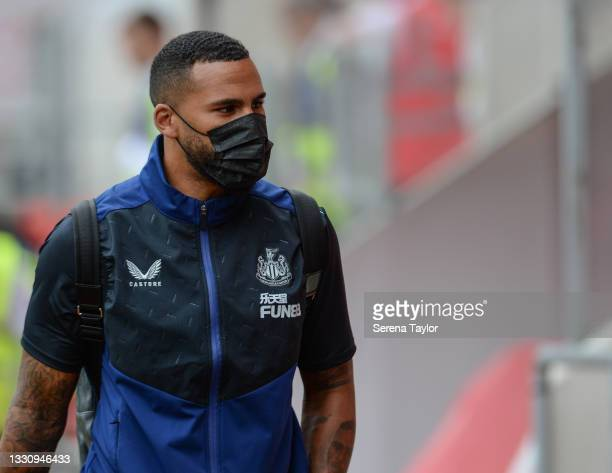 Jamaal Lascelles of Newcastle United FC during the Pre Season Friendly between Rotherham United and Newcastle United at AESSEAL New York Stadium on...