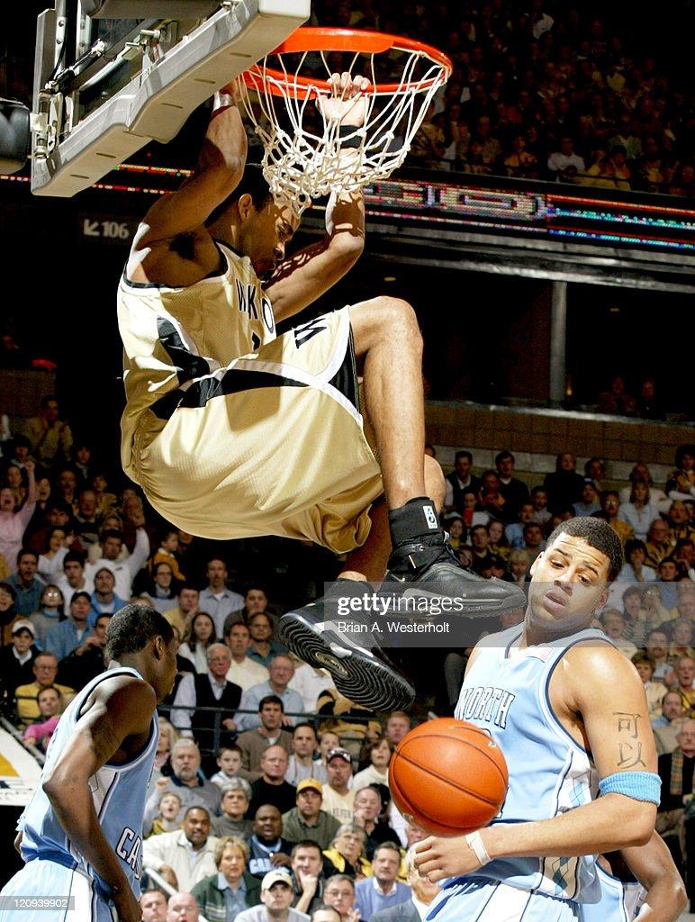 NCAA Men's Basketball - Wake Forest vs North Carolina - February 7, 2004
