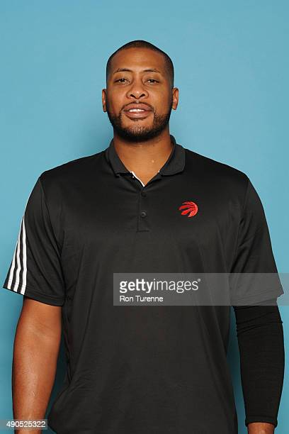 Jamaal Magloire assistant coach of the Toronto Raptors poses for a photo during media day on September 28 at the Air Canada Centre in Toronto Ontario...