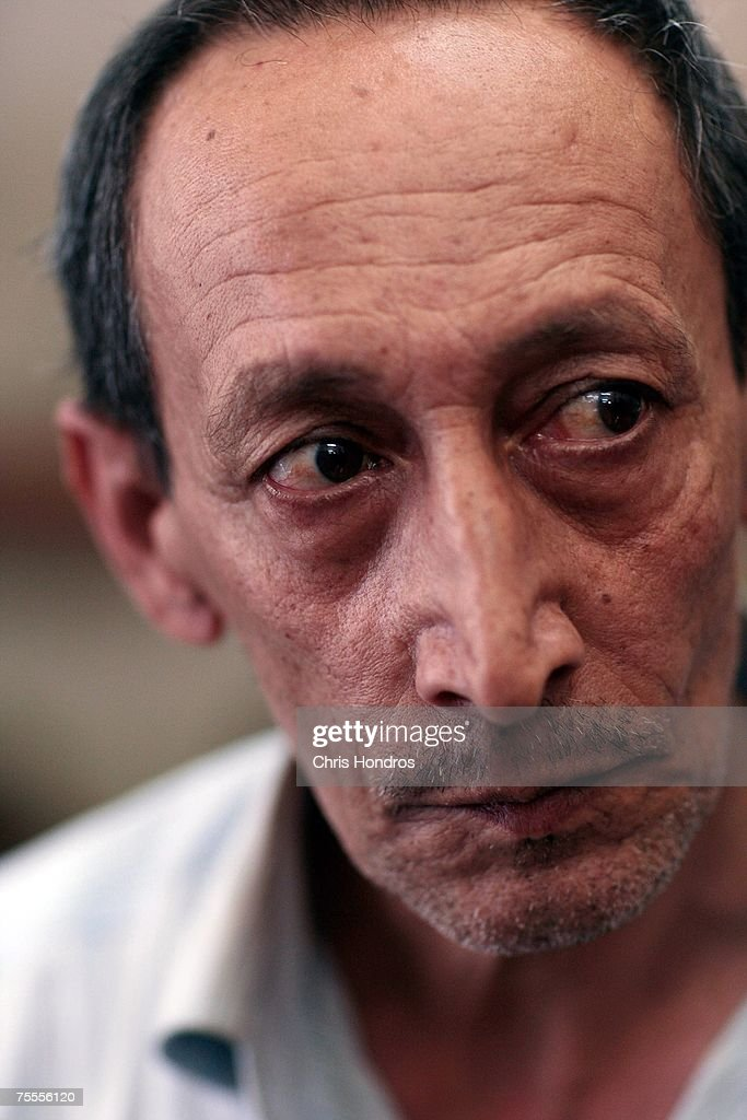 Jamaal Mohammed Khalaf, 50, a shoe repairman, is seen at an Iraqi detention center July 19, 2007 in Baghdad, Iraq. He claims he was working in his shop went it was raided by Iraqi forces, and he was brought to the jail. The Iraqi detention facility at Forward Operating Base Justice in west Baghdad holds nearly a thousand men in an area designed for 300, from insurgents who have killed dozens to some who were likely simply swept up in raids and were in the wrong place at the wrong time .