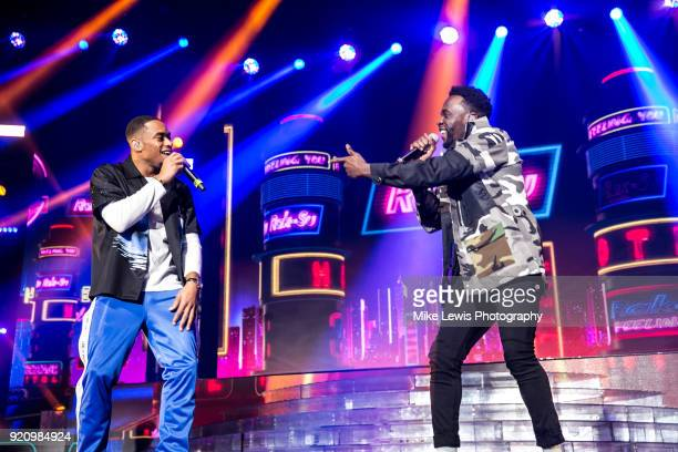 Jamaal Shurland and Ashley Fongho of RakSu perform on the X Factor Live tour on February 19 2018 in Cardiff United Kingdom