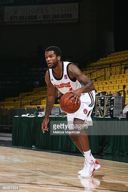 Jamaal Tatum of the Idaho Stampede moves the ball against the Tulsa 66ers at McKay Events Center during the NBA DLeague Showcase on January 08 2009...