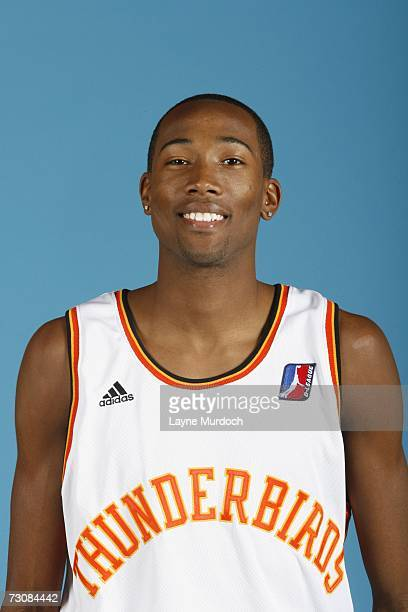 Jamaal Thomas of the Albuquerque Thunderbirds poses during DLeague Media Day on November 21 2006 at the NM Sports and Wellness Riverside Center in...