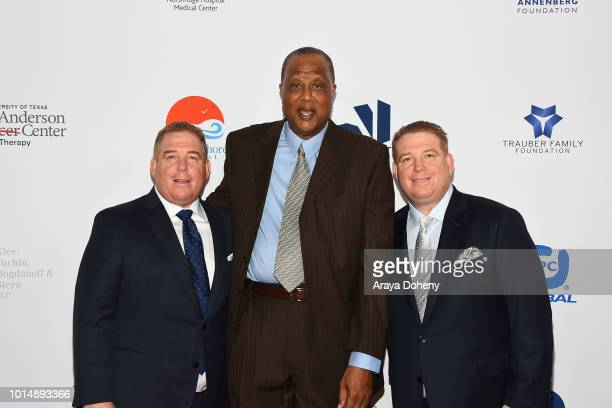 Jamaal Wilkes and the Pump brothers attend the 18th Annual Harold and Carole Pump Foundation Gala at The Beverly Hilton Hotel on August 10 2018 in...