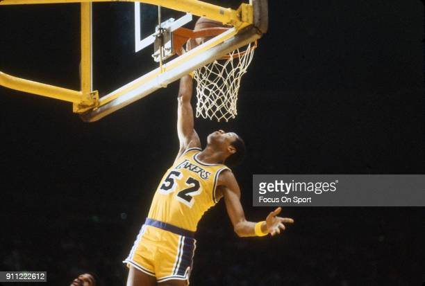 50f6fcf609b Jamaal Wilkes of the Los Angeles Lakers goes in for a layup against the  Philadelphia 76ers