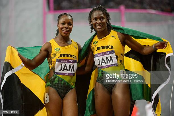 Jamaica 4X100 relay team Athletics Day 14 2012 London Olympic Games at Olympic Stadium