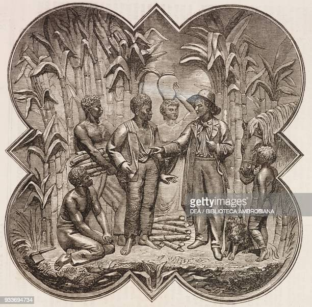 Jamaica basrelief on the monument to James Bruce 8th Earl of Elgin Viceroy of India in Kolkata Cathedral India illustration from the magazine The...