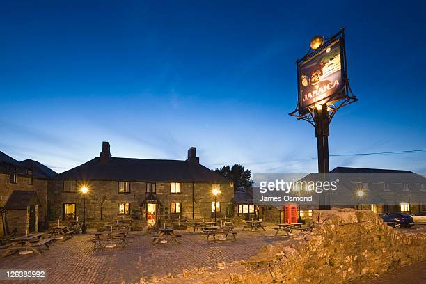 Jamaica Inn at Night, Bolventor, Bodmin Moor. Cornwall. England. UK.