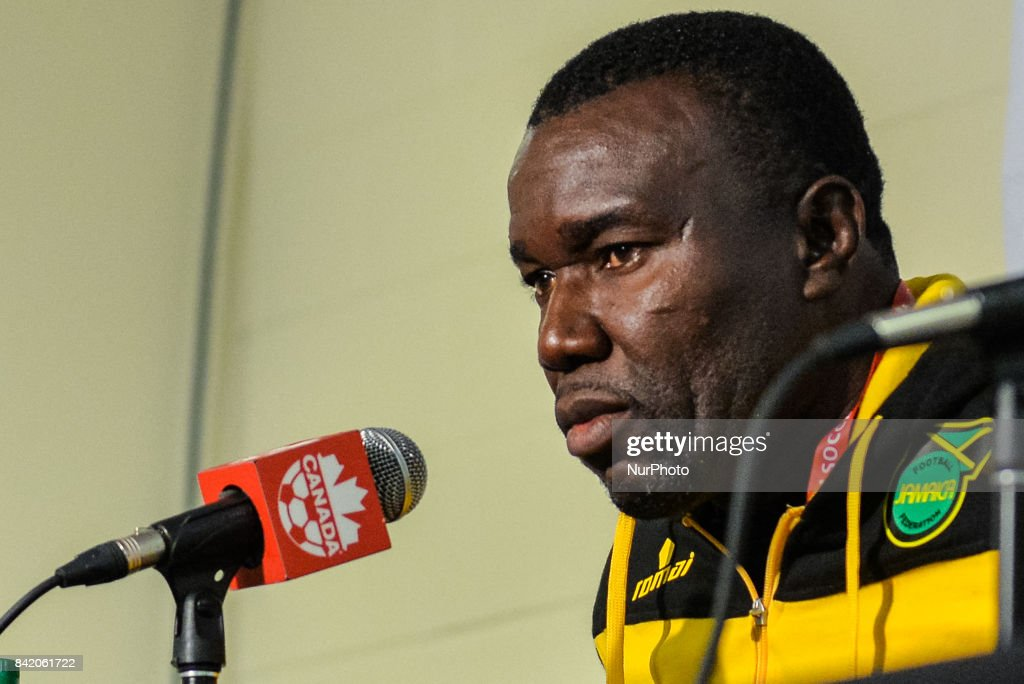 Jamaica Soccer Mens National Team Head Coach Theodore Whitmore during press conference after the Canada-Jamaica Mens International Friendly match at BMO Field in Toronto, Canada on 2 September 2017.
