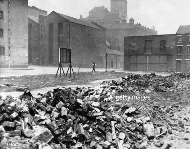 Jamaica Street Liverpool debris from War remain Wednesday 11th March 1959