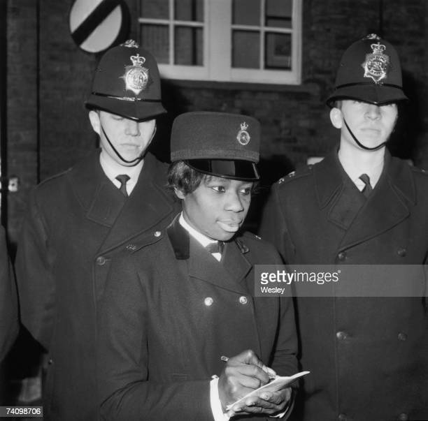Jamaicaborn Sislin Fay Allen becomes the first black woman to join London's Metropolitan Police Force 15th February 1968 Here she undergoes training...