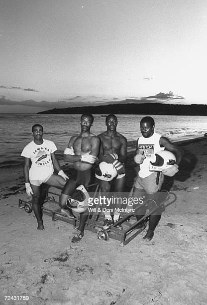 Jamaican Bobsled team Michael White Dudley Stokes Devon Harris Frederick Powell