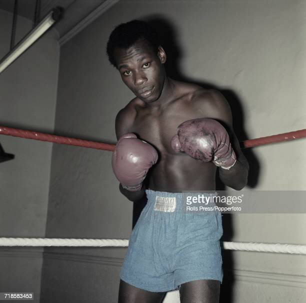 Jamaican born British boxer Bunny Sterling posed in a training ring in November 1970 soon after winning the British and Commonwealth middleweight...