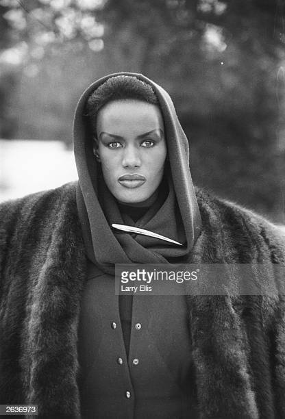 Jamaican born singer actress and fashion model Grace Jones