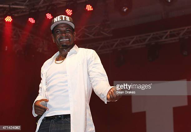 Jamaican dancehall artist Mr Vegas performs at the Project X Fete as part of Festival Village 2015 during Carnival on April 28 2015 in Philipsburg St...