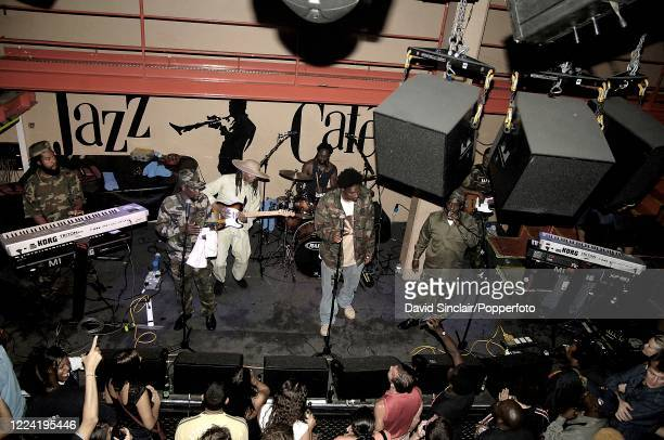 Jamaican group Culture perform live on stage at the Jazz Cafe in Camden London on 24th August 2006