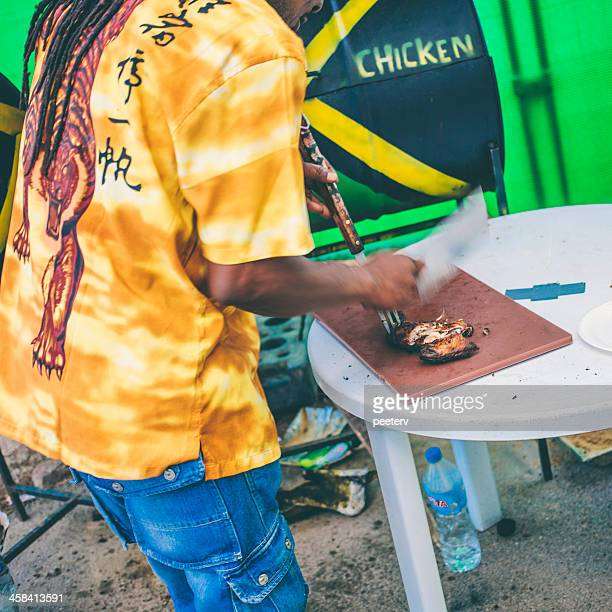 jamaican jerk chicken. - jamaican culture stock pictures, royalty-free photos & images