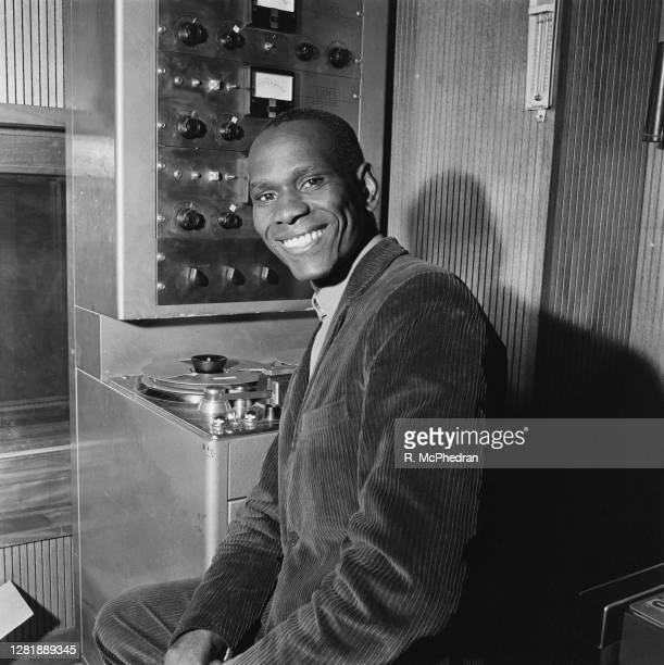 Jamaican musician and songwriter Jackie Edwards at Island Records, UK, 3rd May 1966.