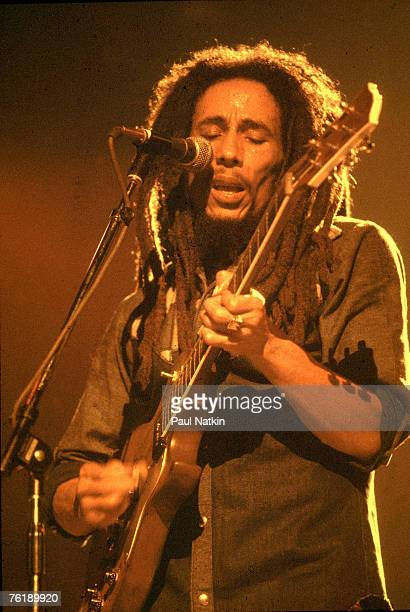 Jamaican musician Bob Marley performing in Chicago Il 27th May 1978