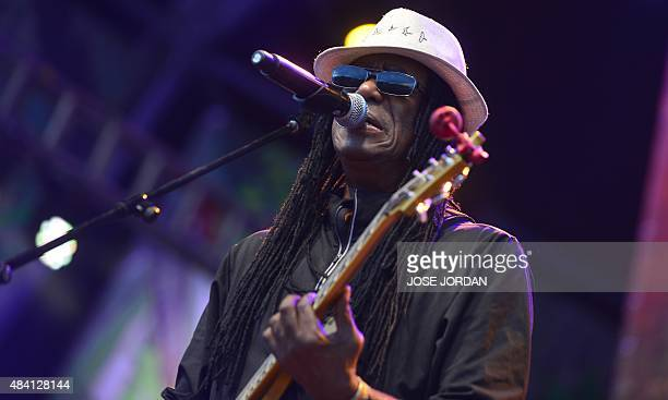 Jamaican musician Junior Marvin performs during a concert at the Rototom Sunsplash Reggae festival in Benicassim Castellon province on August 14 2015...