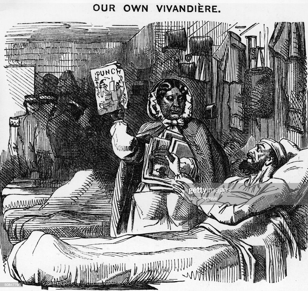 Jamaican nurse, adventurer and writer Mary Jane Seacole (1805 - 1881), heroine of the Crimean War, 1857. Original publication : Punch Magazine - pub. 30th May 1857