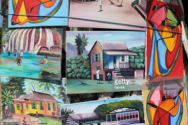 jamaican pictures for sale - painting art product stock pictures, royalty-free photos & images