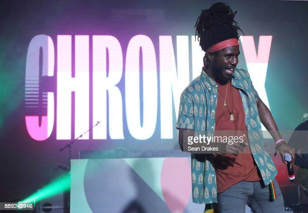 Jamaican recording artist Chronixx performs at No Commission Art and Music Experience hosted by The Dean Collection and Bacardi during Art Basel...
