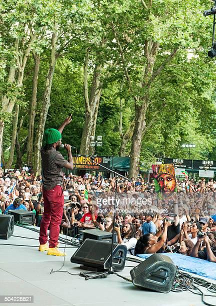 Jamaican Reggae musician Chronixx headlines an afternoon concert at Central Park SummerStage New York New York July 26 2014