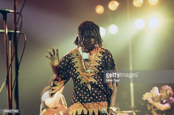 Jamaican Reggae musician Peter Tosh performing on stage 1980