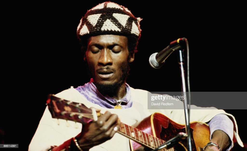 Jamaican reggae singer Jimmy Cliff performs on stage at the Hammersmith Odeon, London in November 1978.