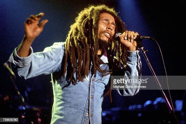 Jamaican reggae singersongwriter Bob Marley 27th November 1979