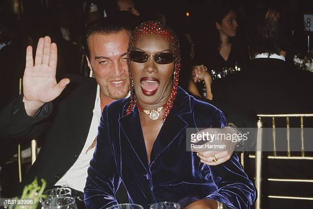 Jamaican singer actress and model Grace Jones and her husband Atila Altaunbay attend the 'Made In Italy' awards ceremony at Cipriani 42nd Street New...